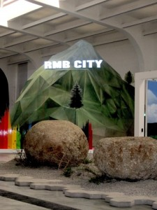 RMB CITY fake mountain at UCCA