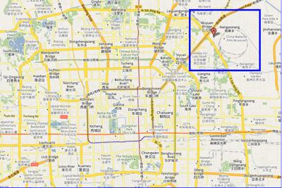 caochangdi map