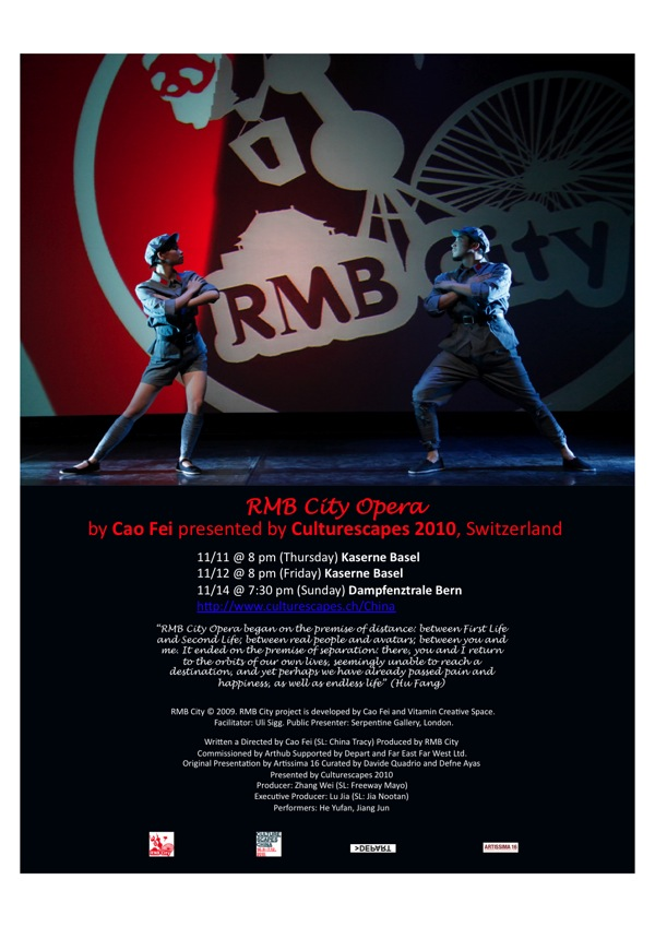 RMB City Opera Tour Flyer 2